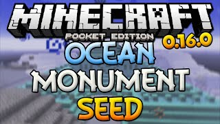 OCEAN MONUMENT SEED! - MCPE 0.16.0 GUARDIAN TEMPLE SEED - Minecraft PE (Pocket Edition)(OCEAN TEMPLE AT SPAWN SEED - Minecraft PE 0.16.0 In this video, I'm showing you guys a ocean monument / elder guardian seed very close to the spawn ..., 2016-08-30T03:10:14.000Z)