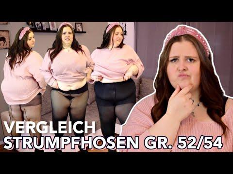DIE PERFEKTE STRUMPFHOSE IN GR. 52/54? | Live Test - Teuer Vs. Günstig | Vanessa Nicole