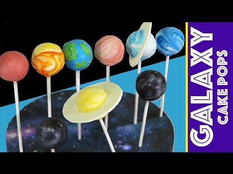 Galaxy Cake Pops | How to Make a Space Themed Cakepop SOLAR