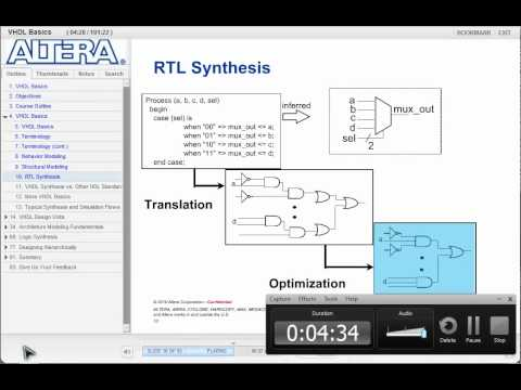 VHDL basics _01,  from Altera