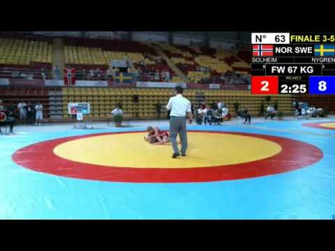 Final EJWC Skopje 2013 FW 67KG 04.07.13 3rd Place And 5th Place