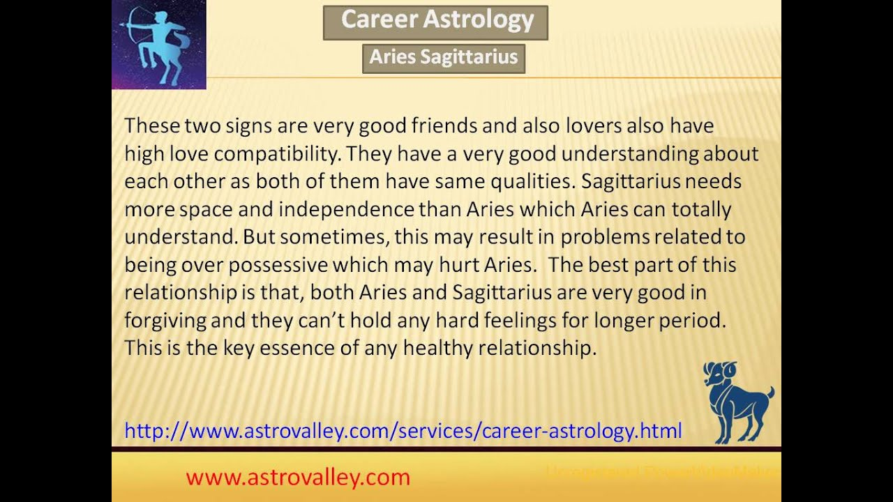 Sagittarius and aries relationship compatibility