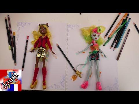 Topmodel Challenge – Qui dessine le plus beau monstre de Monster High – Laguna Fire et Claudia Wolf