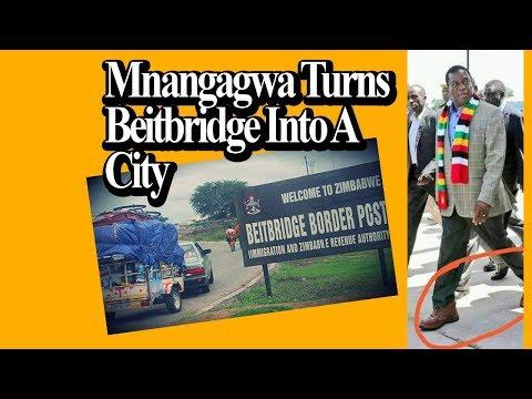 Mnangagwa Turns Beitbridge into a City
