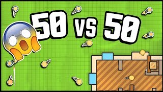 INSANE 50 vs 50 Mode! So Much Fun! (ZombsRoyale.io Gameplay is Basically Fortnite.io)
