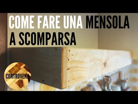 Supporti Mensole Scomparsa.Mensola A Scomparsa Fai Da Te Youtube
