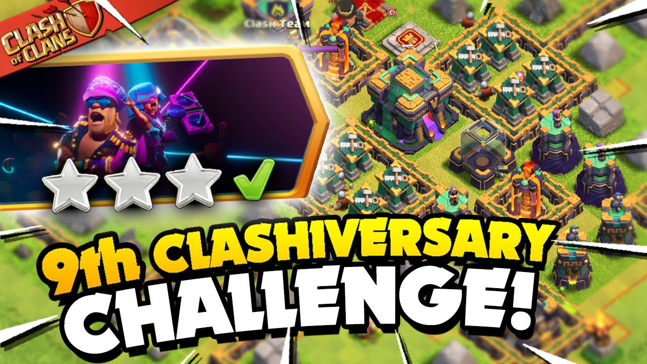 Easily 3 Star the 9th Clashiversary Challenge (Clash of Clans)