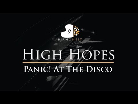 Panic! At The Disco - High Hopes - Piano Karaoke / Sing Along / Cover With Lyrics