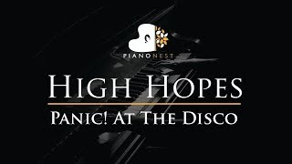 Panic! At The Disco - High Hopes - Piano Karaoke / Sing Along / Cover with Lyrics