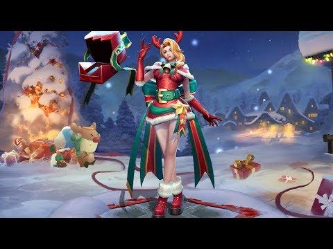 《Garena傳說對決》娜塔亞「繽紛聖誕」造型展示影片