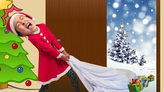 Irene and Ella-Funny Christmas day Stories for kids 산타할아버지 대신 엘라산타가 선물을 나눠줬어요 메리 크리스마스 아엘튜브 Aeltube
