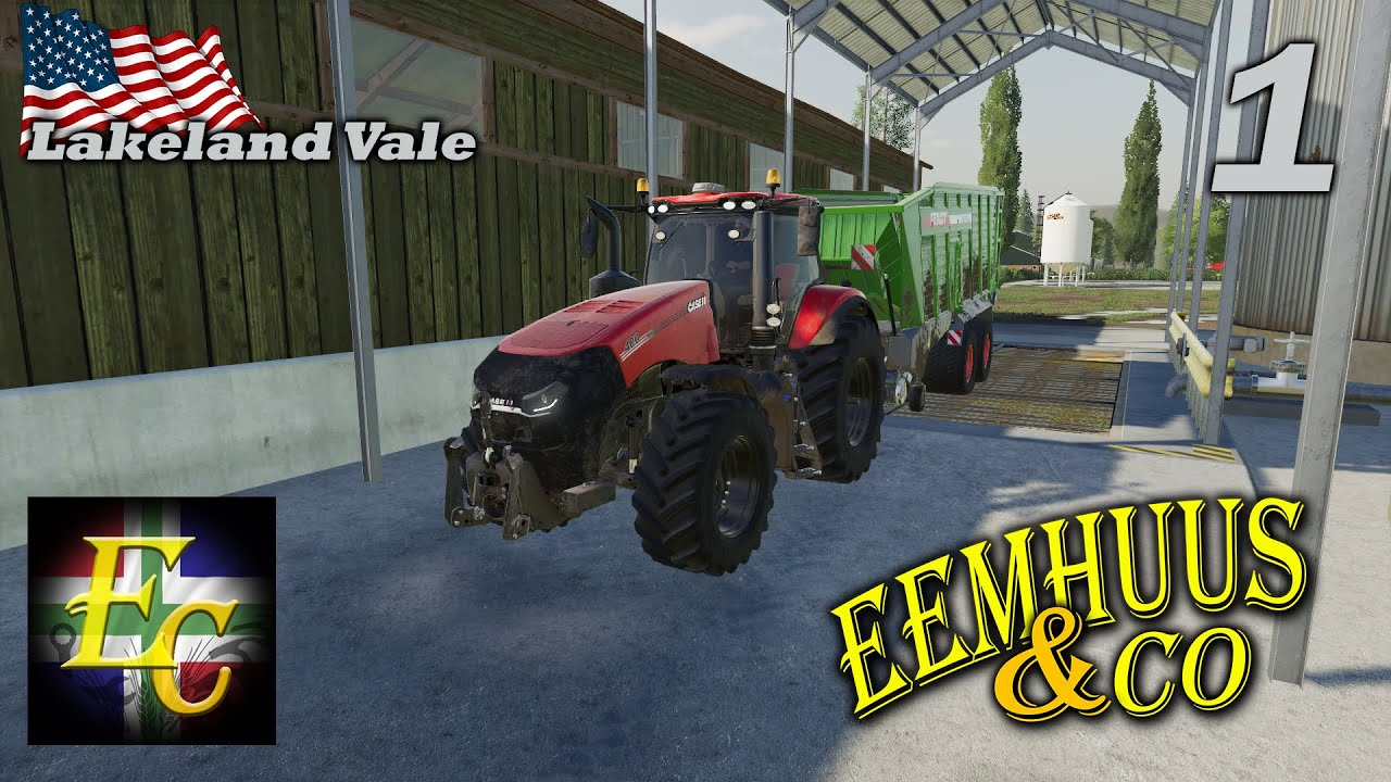 Farming simulator 2019 Lakeland START Eemhuus, D Speaker, Legend 06 en Lutje!