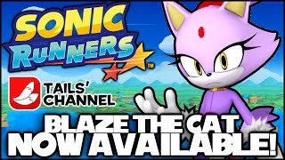 Blaze the Cat Is Available Now in Sonic Runners! (Apple iOS & Android)