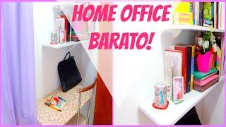DIY HOME OFFICE BARATO+ DICAS DE ORGANIZAÇÃO