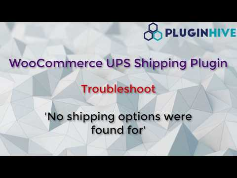 """Troubleshoot - """"No shipping options were found for""""