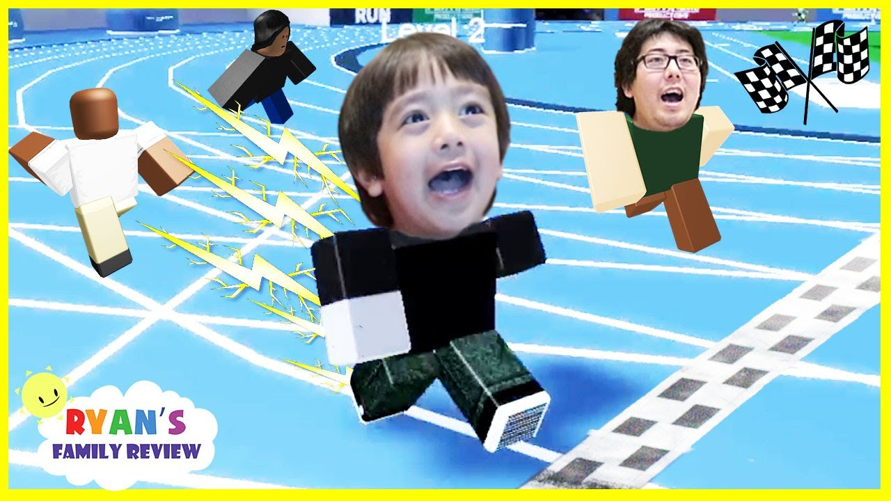 Ryan And Daddy Game Night Lets Play Roblox Speed Run With Ryans