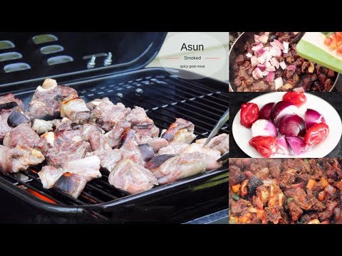 SPICY SAUCY ASUN RECIPE - SMOKED/GRILLED GOAT MEAT