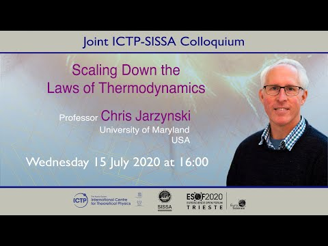 """ICTP-SISSA Colloquium by Prof. Chris Jarzynski on """"Scaling Down the Laws of Thermodynamics"""""""