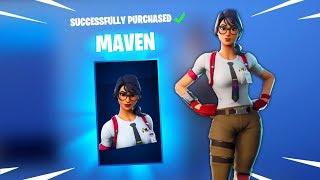 NOVA pele MAVEN (Deixe o desgosto Flow... lol) Fortnite Daily redefinir novos itens no item Shop