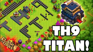 """Clash of Clans - HOW?! """"TOWN HALL 9 TITAN LEAGUE!"""" How to get Titan's League at Town Hall 9"""