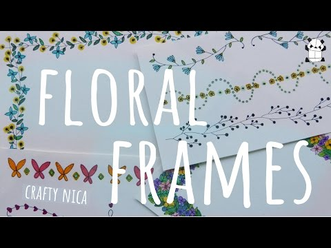 FLORAL BORDERS AND FRAMES. Borders for cards, school projects & bullet journal (Spring doodles)