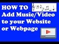 How to add Music and Videos to your webpage - Hindi Tutorial