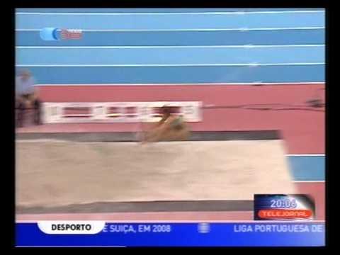 Atletismo :: Naide Gomes, campeã europeia do salto em comprimento nos europeus de pista coberta em 2007