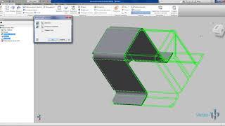 Создание деталей из листовых деталей и разверток в Autodesk Inventor