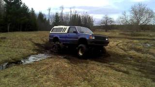 Mazda B2600 Sas First Time In The Mud With New Lift Kit Solid Axle Swap