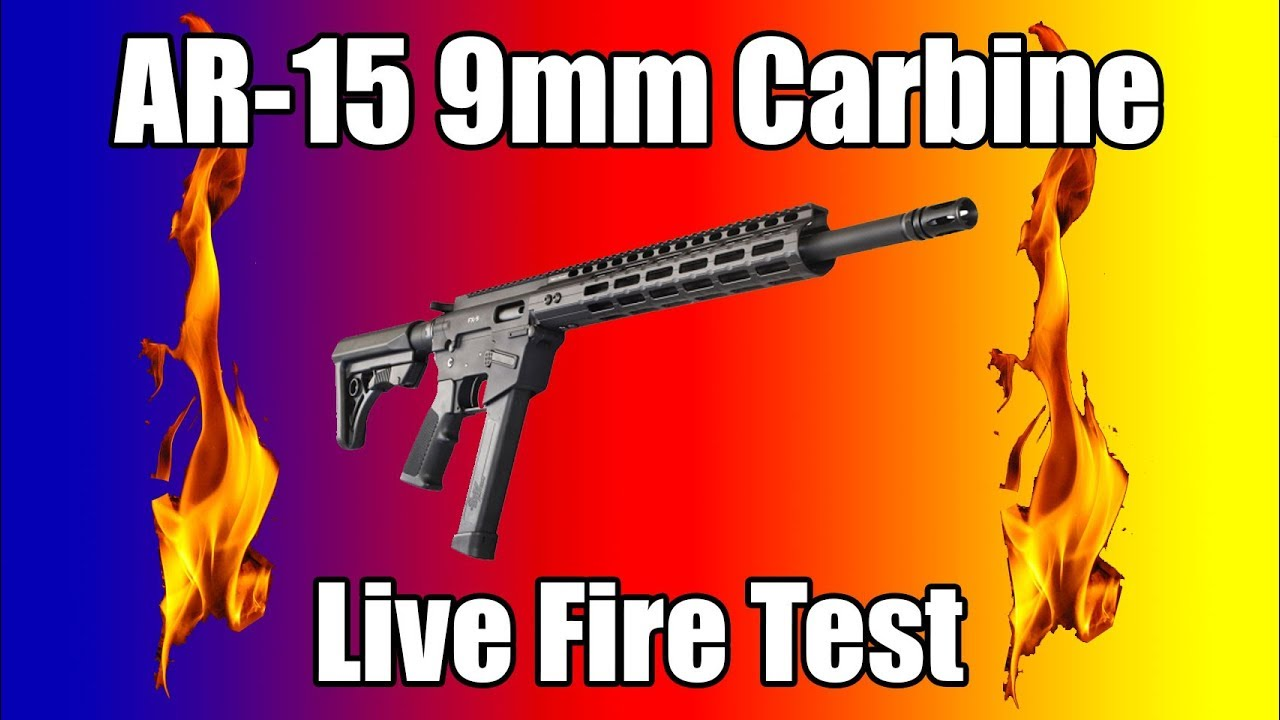 Ar 15 Style 9mm Carbine Live Fire Youtube