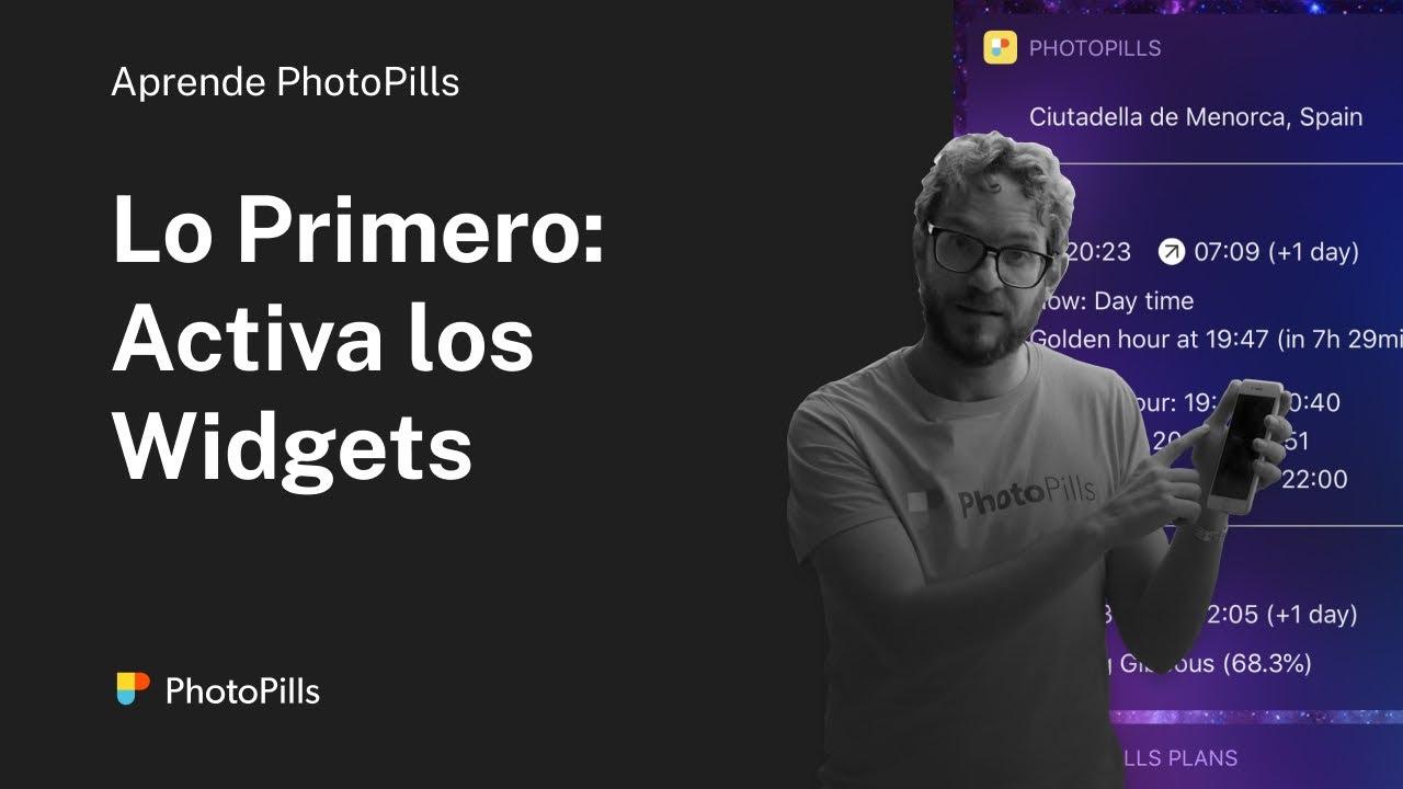 La primera cosa que debes hacer al instalar PhotoPills: Activar los Widgets  #Smartphone #Android