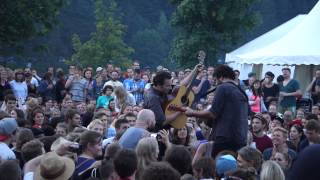 """Augustines - playing Weary Eyes in the crowd (""""f-ed up  power situation"""")"""