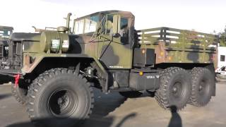 truck 961 for eBay military surplus M818 Shortie Cargo Camouflage paint fully restored