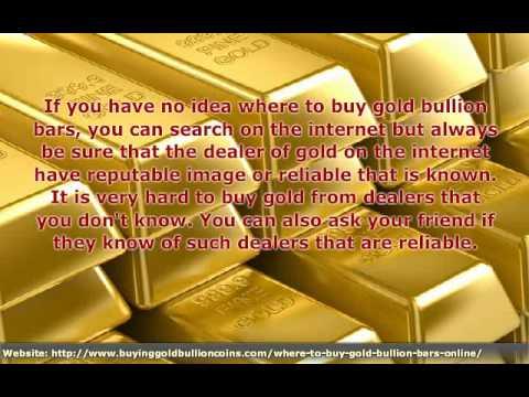 How To Buy Gold Bullion Bars