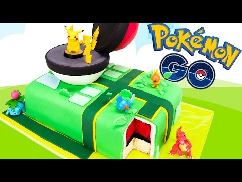 Pokemon Go Cake (Pikachu Pokeball Cake) from Cookies Cupcakes and Cardio