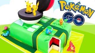 Pokemon Go Cake (Pikachu Pokeball Cake) from Cookies Cupcakes and Cardio