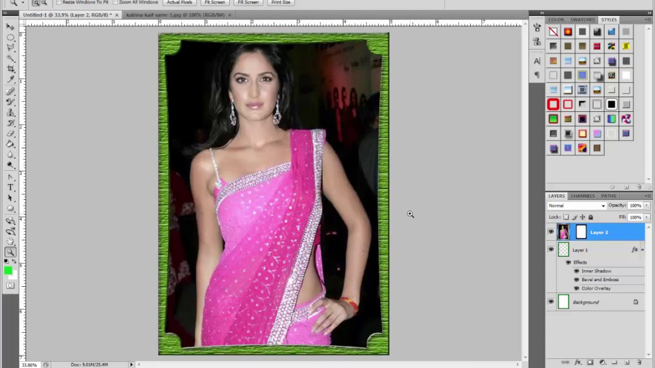HOW TO MAKE FRAMES, FANCY BORDER,EDGES IN PHOTOSHOP PART 2