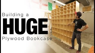 Building a HUGE Plywood Bookcase