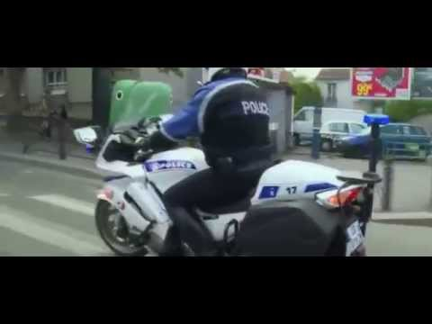 French police bikers riding with no hands !
