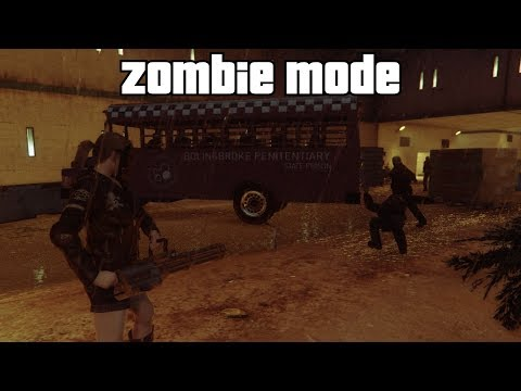 GTA 5 Online - Zombie Mode: Prison (Fun Modded Capture)