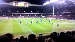 Spurs - Leicester, FA Cup 3rd Round 2016 - Okazaki Goal