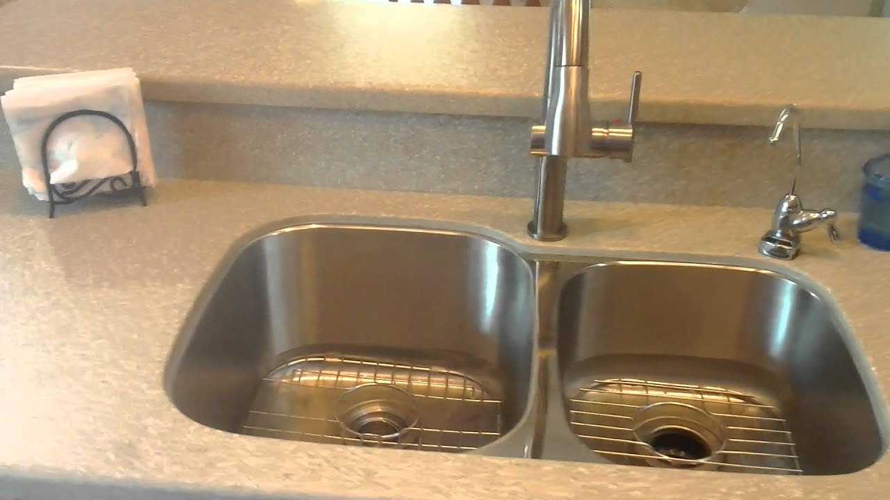 Stainless Steel Sink Countertop : ... surface countertop with a undermount stainless steel sink - YouTube