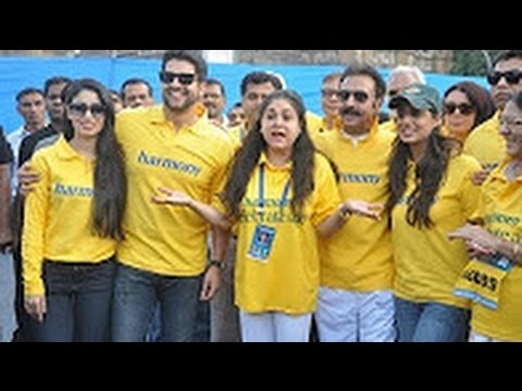 Aftab Shivdasani & Celeb's Interview at Standard Chartered Mumbai Marathon 2014