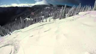 Nothing but powder2 on Gray Mountain at Red Mountain Ski Resort