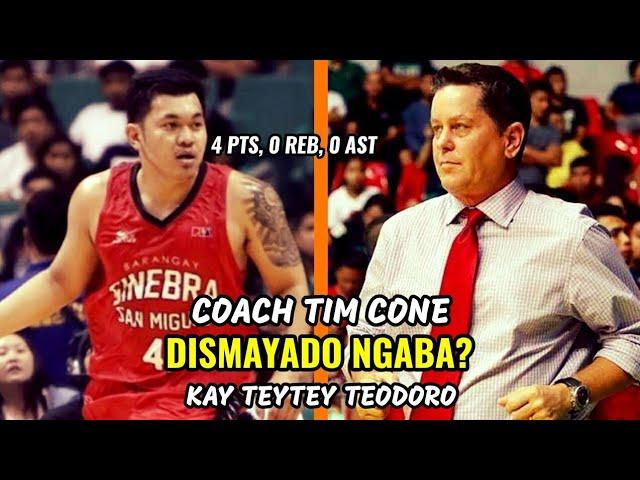 Coach Tim Cone DISMAYADO NGABA Kay Teytey Teodoro?