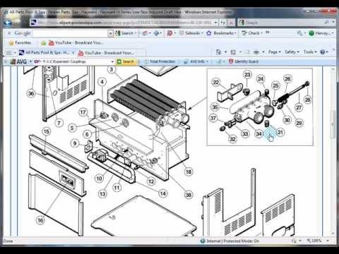hqdefault how to find parts for a hayward gas heater youtube Hayward H250 Pool Heater and Spa at bayanpartner.co