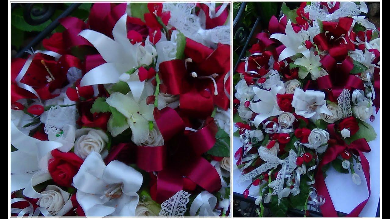 Diy Cascading Bouquet Cheap Preeti Petals Youtube
