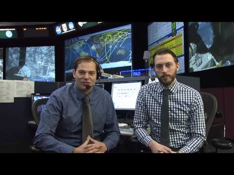 ISS Mission Control Console Interview with the Digital Learning Network