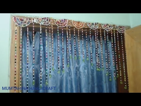 how to make door hanging decoration from beaded
