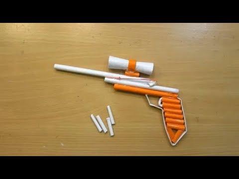 Cara sederhana membuat pistol dan peluru mainan menggunakan kertas HVS - Tutorial Sederhana